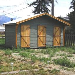 Lockable shed storage for each suite
