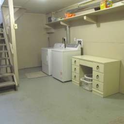 Shared laundry in basement