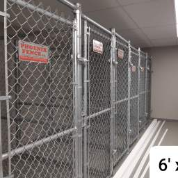 6' x 3' storage locker assigned to each unit