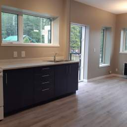 Separate dining area with deck walkout